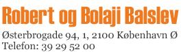 Lægerne Robert & Bolaji Balslev